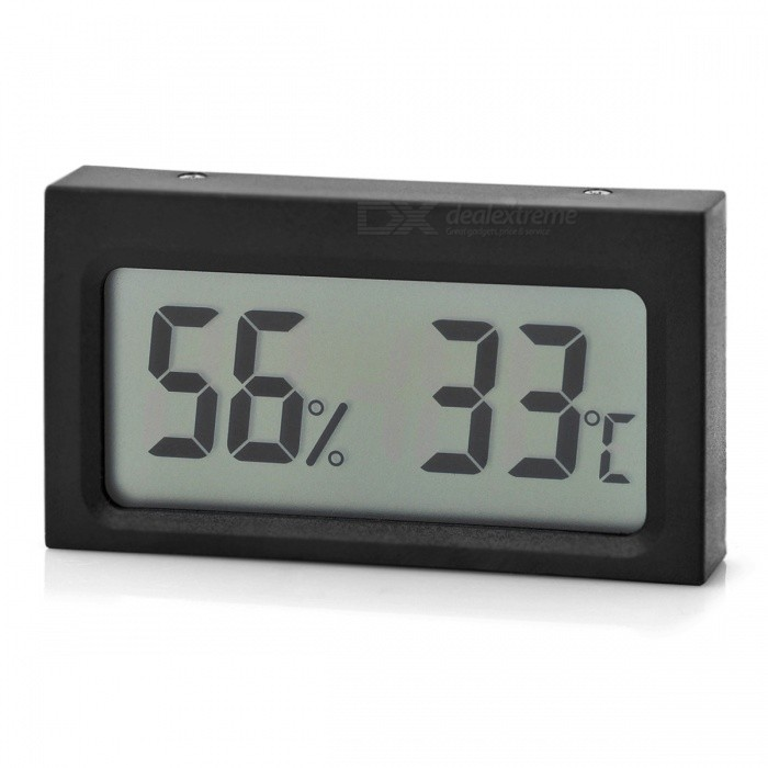 1.9 Mini Digital LCD Humidity Hygrometer / Thermometer (5 PCS)Household Thermometers<br>Form  ColorBlack (5 PCS)MaterialN/AQuantity5 DX.PCM.Model.AttributeModel.UnitScreen Size1.9 DX.PCM.Model.AttributeModel.UnitBattery TypeOthers,LR44Battery included or notYesPacking List5 x Thermometers<br>