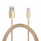 Quick Charge Stainless Steel Spring Micro USB Charging Data Cable (1m)