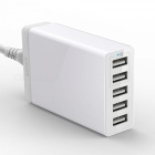 Anker 5-Port USB Charger PowerPort 5, Multi-Port USB Charger - White