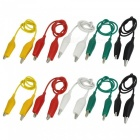 50cm Electrical DIY Double-end Alligator Clips for Test (10Pcs)