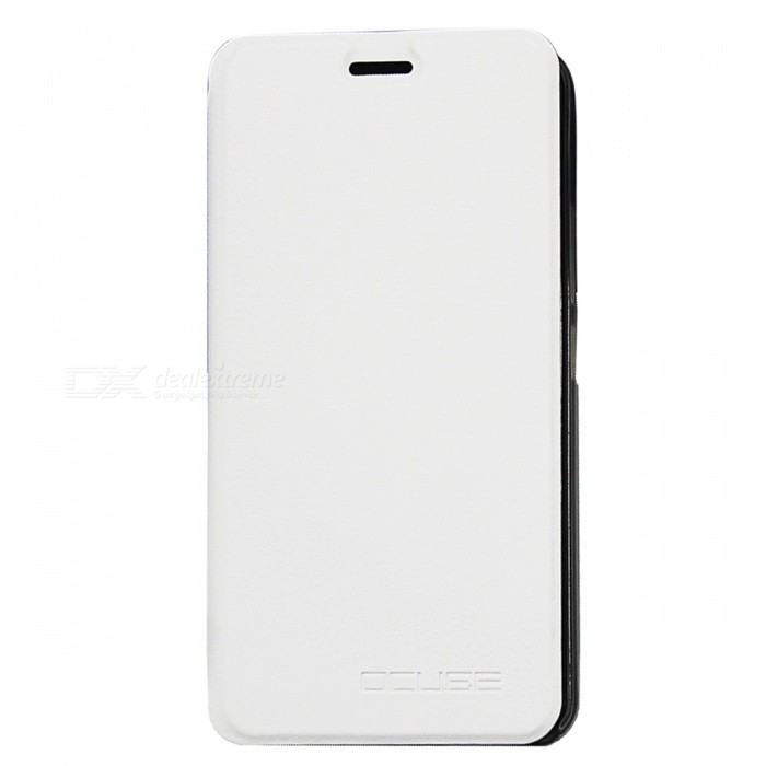 OCUBE PU Leather Flip-open Case for Ulefone Metal Mobile Phone - White