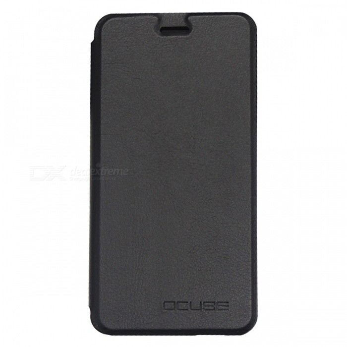 OCUBE PU Leather Flip-open Case for Ulefone Metal Mobile Phone - Black