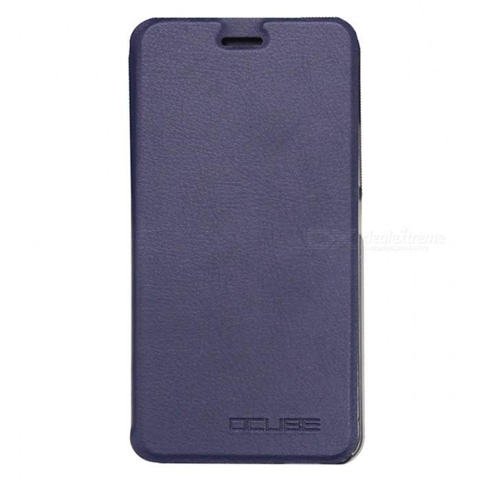 OCUBE PU Flip-open Case for Ulefone Metal Mobile Phone - Deep Blue