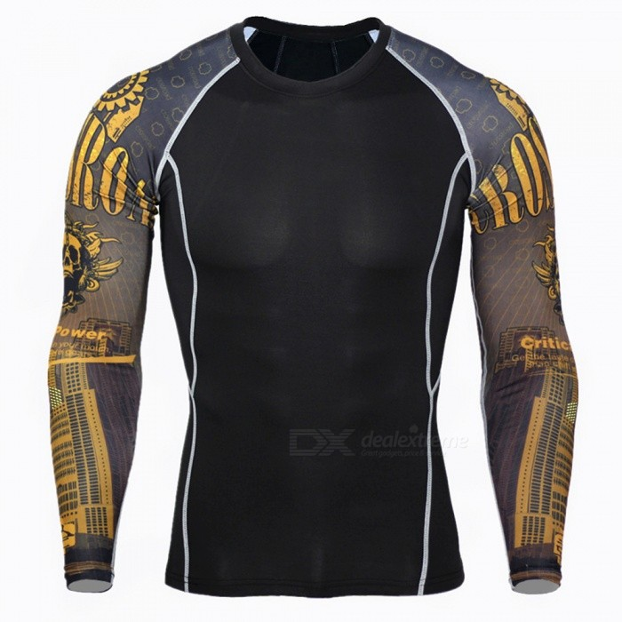 3D Print Quick Dry Long Sleeve Mens T-Shirt - Black + Yellow (L)Form  ColorBlack + Yellow + Multi-ColoredSizeLModelA-2479Quantity1 setMaterialHigh elastic fabricGenderMensSeasonsSpring and SummerShoulder Width41 cmChest Girth89-105 cmSleeve Length62 cmTotal Length62 cmWaistNo cmTotal LengthNo cmSuitable for HeightN/A cmBest UseCycling,Mountain Cycling,Recreational Cycling,Road Cycling,Triathlon,Bike commuting &amp; touringSuitable forAdultsTypeOthers,T-shirtPacking List1 x T-shirt<br>