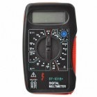 AC/DC LCD Digital Handheld Portable Tester Multimeter Ammeter - Black