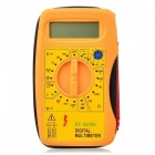 AC/DC LCD Digital Handheld Portable Tester Multimeter Ammeter - Orange