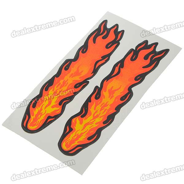 Small Fire Cloud Figure Car Stickers - Multi Color (10-Pair Pack) bim and the cloud