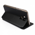 OCUBE PU Leather Flip-open Case for Doogee Y6 Mobile Phone - Black