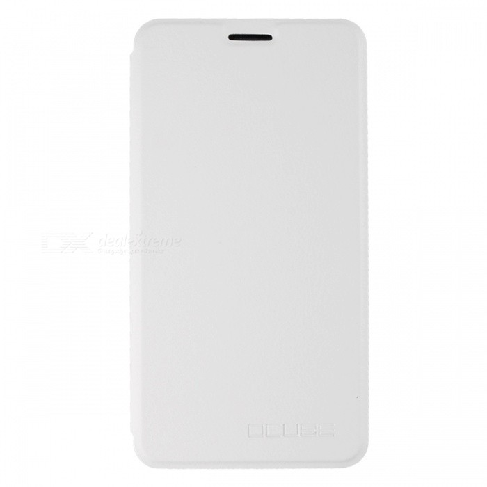 OCUBE PU Leather Flip-open Case for Doogee Y6 Mobile Phone - White