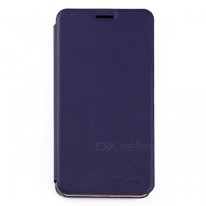 OCUBE PU Leather Flip-open Case for Doogee Y6 Mobile Phone - Deep Blue