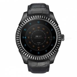 NO.1 D7 desbloqueio inteligente do dual core do smart watch do Android - preto