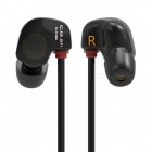 KZ ATE-S HiFi Stereo Metal In-ear Wired Earphone - Black (Without Mic)