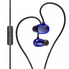 KZ ZS2 HiFi Stereo Metal In-ear Wired Earphone - Blue (With Mic)