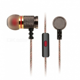 KZ EDR1 HiFi Stereo Metal In-ear Wired Earphone - Golden (With Mic)