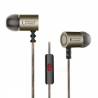 KZ ED4 HiFi Stereo Metal In-ear Wired Earphone - Gray (With Mic)