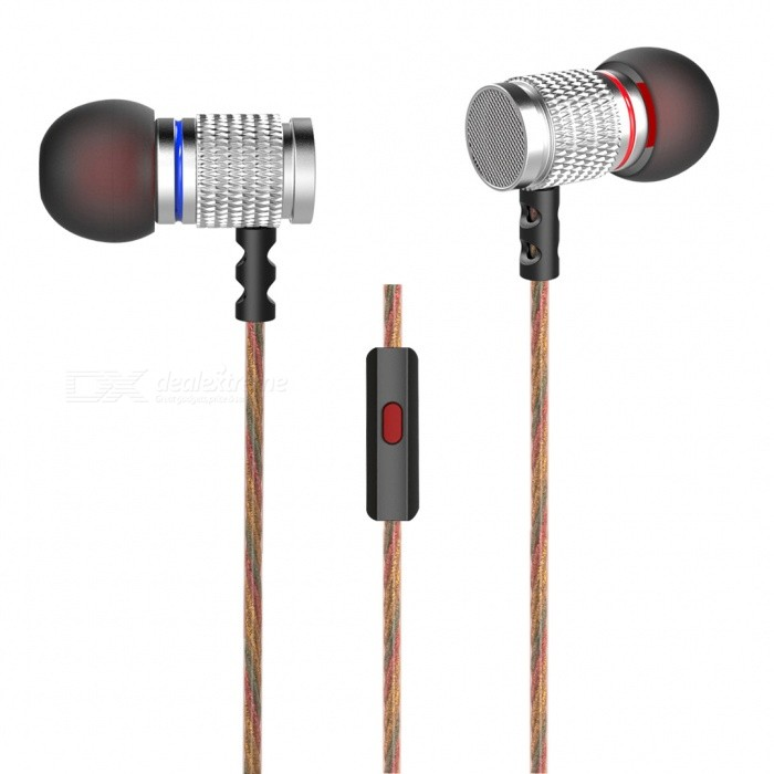 KZ EDR2 HiFi Stereo Metal In-ear Wired Earphone - Silver (With Mic)