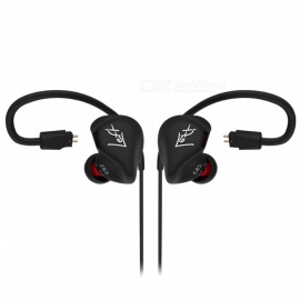KZ ZS3 HiFi Stereo Metal In-ear Wired Earphone - Black (With Mic)