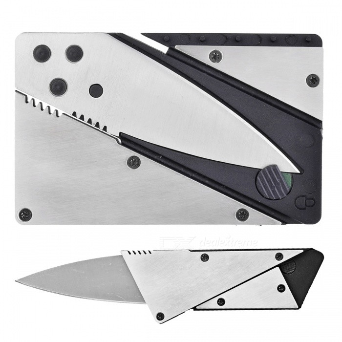 Outdoor Multi-Function Latest Folding Card Knife - Silver