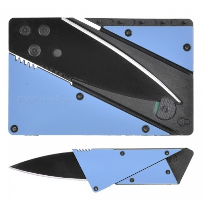 Outdoor Multi-Function Latest Folding Card Knife - Blue