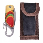 Outdoor Trumpet Color Wood Copper Head Mini Key Chain Folding Knife