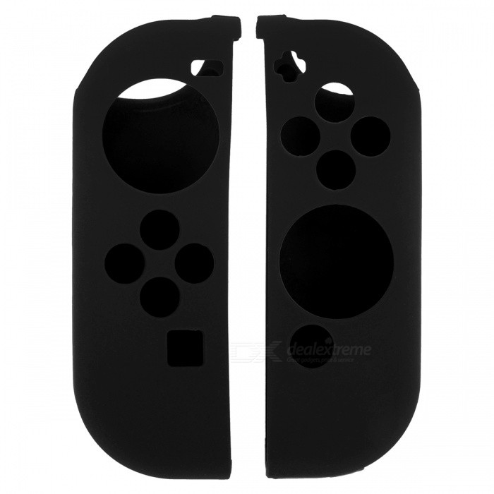 Ant-slip Silicone Handle Bumper Cases for NX SWITCH NS - Black (1Pair)