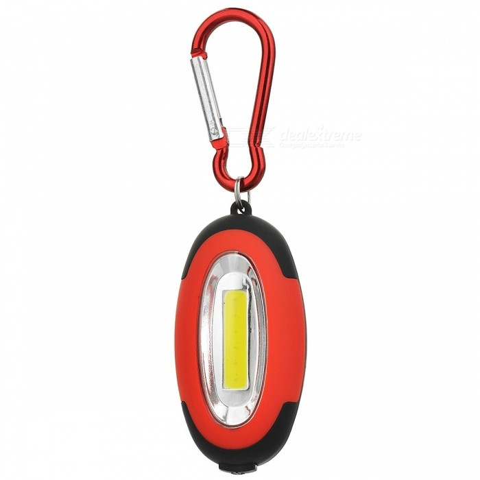 Portable Camping Mountaineering Lamp Flashlight w/ Carabiner - Red