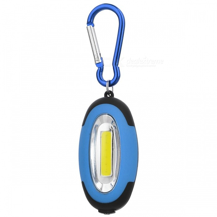 Portable Camping Mountaineering Lamp Flashlight w/ Carabiner - Blue