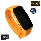 8GB Memory HD 1080P 3.6MP Wearable Bracelet Camera Camcorder - Yellow