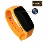 HD 1080P 3.6MP Wearable Bracelet Camera Camcorder - Yellow + Black