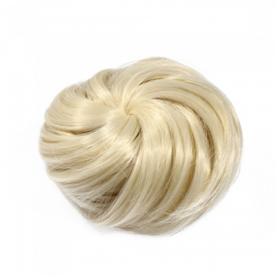 Synthetic Hair / Hairpiece Bun Wig - Light Blonde