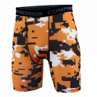 Outdoor Men's Sports Fitness Camouflage Shorts - Orange (L)