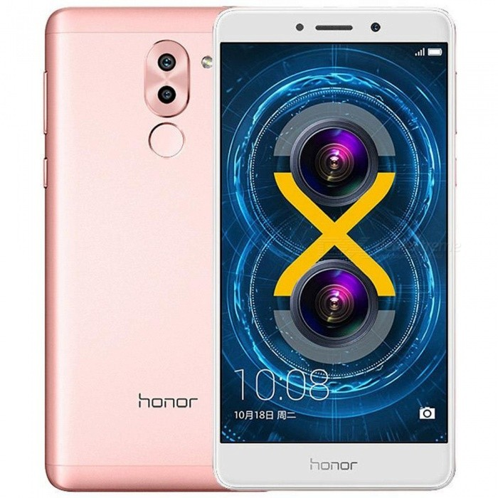Huawei Honor 6X 5.5 4G LTE Phone w/ 4GB RAM 32GB ROM - Rose GoldAndroid Phones<br>Form  ColorRose GoldRAM4GBROM32GBBrandHUAWEIModel6XQuantity1 DX.PCM.Model.AttributeModel.UnitMaterialIPS + Aluminum alloyShade Of ColorGoldTypeBrand NewPower AdapterUS PlugHousing Case MaterialAluminum alloyNetwork Type2G,3G,4GBand DetailsSIM 1: B2/3/5/8 (850/900/1800/1900MHz)--B2 and B5 only can be used outside of China;  SIM 2: GSM: B2/3/5/8 (850/900/1800/1900MHz);  3G: WCDMA: B1/B2/B5/B8 (850/900/1900/2100MHz)--B2 and B5 only can be used outside of China;    TD-SCDMA: B34/B39 CDMA BC0;  4G: FDD-LTE: B1/B3(1800/2100MHz), TDD-LTE: B39/B40/B41 Data, TD-LTE/LTE FDD/TD-  SCDMA/WCDMA/CDMA2000/EDGE/GPRS/CDMA 1X.Data TransferGPRS,LTE,HSUPAWLAN Wi-Fi 802.11 b,g,n,Others,Wi-Fi Direct, hotspotSIM Card TypeNano SIMSIM Card Quantity2Network StandbyDual Network StandbyBluetooth VersionBluetooth V4.1,Others,A2DP, EDR, LEOperating SystemOthers,Android OS, v6.0 (Marshmallow), - Emotion UI 4.1CPU ProcessorHisilicon Kirin 655 Octa Core   4*2.1GHz+4*1.7GHzCPU Core QuantityOcta-CoreGPUMali T830-MP2LanguageEnglish, Simplified Chinese, Traditional Chinese, Dutch, Indonesian, Malay, Persian, Danish, German, Estonian, Spanish, French, Zulu, Italian, Swahili, Latvian, Lithuanian, Hungarian, Norwegian, Polish, Portuguese, Romansh, Slovak, Vietnamese, Turkish, Russian, Arabic, Korean,Available Memory23GBMemory CardMicroSD, TFMax. Expansion Supported128GBSize Range5.5 inches &amp; OverTouch Screen TypeCapacitive ScreenScreen Resolution1920*1080Screen Size ( inches)5.5Screen Edge2.5D Curved EdgeCamera PixelOthers,12MP + 2MPFront Camera Pixels8.0 DX.PCM.Model.AttributeModel.UnitVideo Recording Resolution1080p (1920 x 1080, 30 frames / sec)FlashYesTouch FocusYesTalk Time23 DX.PCM.Model.AttributeModel.UnitStandby Time600~650 DX.PCM.Model.AttributeModel.UnitBattery Capacity3340 DX.PCM.Model.AttributeModel.UnitBattery ModeNon-removablefeaturesWi-Fi,GPS,FM,BluetoothSensorProximity,Compass,Accelerometer,Fingerprint authentication sensorWaterproof LevelIPX0 (Not Protected)I/O InterfaceSIM Slot,Micro USB v2.0Format SupportedSupport H.265 / HEVC ( Main profile )H.264 ( Baseline / Main / High profile )MPEG4 ( Simple profile / ASP ) VC-1 ( Simple / Main / Advanced profile ) Support PCMAAC / AAC+ / eAAC+MP3AMR- NB/WBFLACAPEDSDWAVRadio TunerFMPacking List1 x Cell phone1 x Micro USB Cable (100cm)1 x Charger (US plugs / 100~240V/5V )<br>