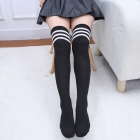 Japanese Style Black and White Striped Stockings