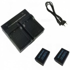 Ismartdigi LPE17 Digital Camera Batteries + Dual Charger for Canon EOS