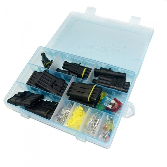 Waterproof Electrical Connector Box Set - 1 to 6 Way and Blade Fuse