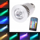 E27 RGB 16 Options de couleur et fonctionnalité de mémoire LED Magic Spotlight Lampe de lampe 4 modes