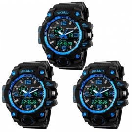 SKMEI 1155 50M Waterproof Multifunction Sport Watch - Blue (3 PCS)