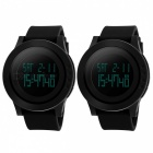 SKMEI 1142 LED Digital Sports Wrist Watches - Black (2PCS /1 x CR2025)