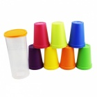 Plastic Travel Rainbow Colorful Wash Brushing Cup (8 PCS)