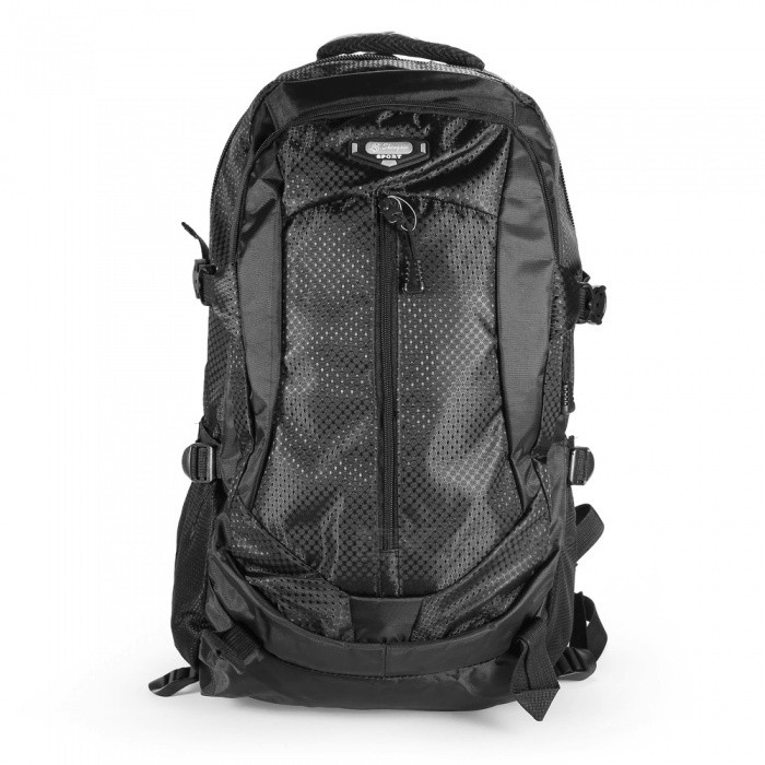 Outdoor Multifunctional Nylon Removable Trolley Backpack - Black