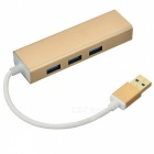 BSTUO USB 3.0 till RJ45 10 / 100Mbps Ethernet USB 3.0 HUB Adapter - Golden