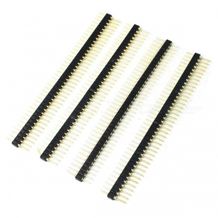40 Pins Male End Straight Mounting Angle IC Socket Connectors (5 PCS)DIY Parts &amp; Components<br>Form  ColorBlackQuantity1 DX.PCM.Model.AttributeModel.UnitMaterialPlastic, MetalCertificationNoPacking List5 x IC Socket Connectors<br>