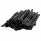 100Pcs Wire Assembly Adjustable Self-locking Nylon Cable Ties - Black