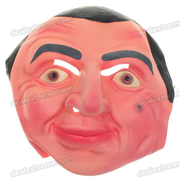 Lifelike Mr Bean Mask for Halloween Cosplay