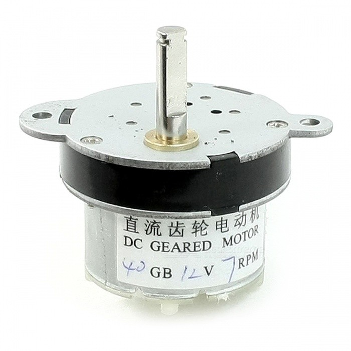 7RPM 5mm Shaft Dia Pernament Magnetic DC 12V Gearbox Geared Motor
