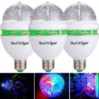 YouOKLight E26/E27 RGB LED Strobe Bulb Stage Light (3 PCS)