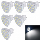 YouOKLight MR11 2W 9-LED 5733-SMD Cold White Light Bulbs (6PCS)