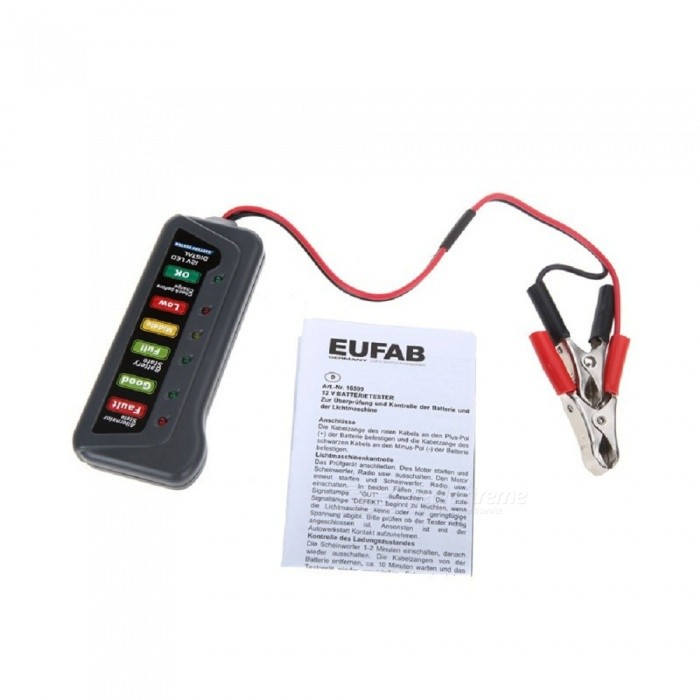 Electronic Tester Showing Failure Lights : Tirol v led light display digital battery alternator