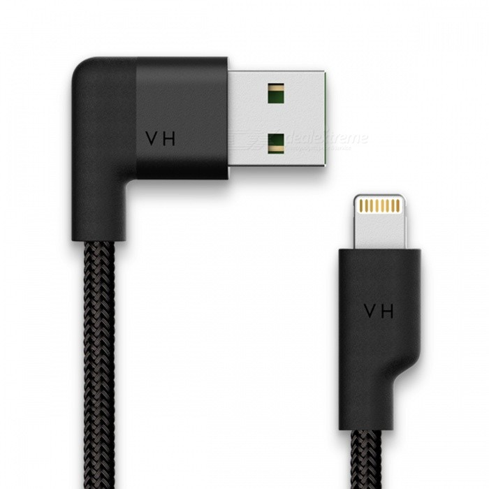 VH L902 Lightning to USB MFi Cable - Jet Black (6ft)
