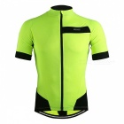 ARSUXEO 631 Men's Short-sleeved Cycling Jersey Shirts - Green (XL)